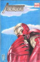MARVEL - The Avengers IRON MAN Sketch Comic Cover by DenaeFrazierStudios