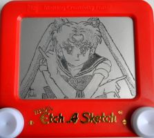 Sailor Moon etch a sketch by pikajane