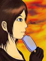 'Xion Eating Ice Cream' Color by Aroselia