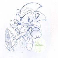 Old School Sonic by JustinDurden
