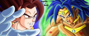 Vegetto vs fSSJ Broly - Begins by JJJawor