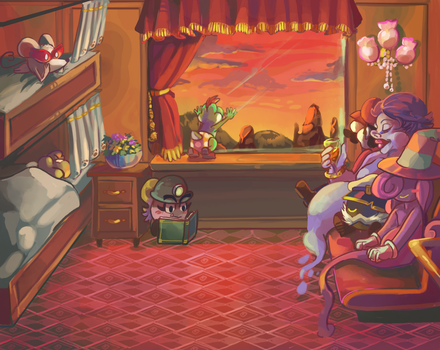 Dusk at the Excess Express by Figuritas