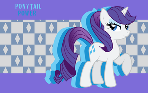 Pony Tail Power Rarity WP by AliceHumanSacrifice0