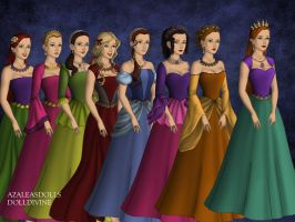Athena and her Girls. by Katharine-Elizabeth