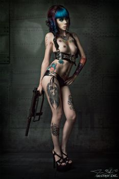 Nudity, Guns, and Tattoos by destroyinc