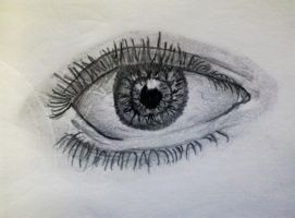 Eye Sketch #1 by DavidEvz