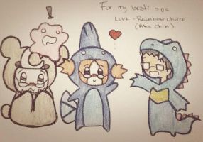 Me and my buddys in pokemon costumes ^-^ by RainbowChurro