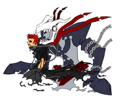 Axcul and The Reaper Form 2 by YintoYang