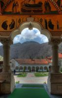 Lainici Monastry, from inside by mariustipa