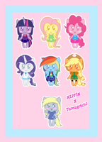 MLPFIM Tamagotchi Crossover by HeroineMarielys