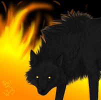Flame Wolf by Wolf-Shadowrunner