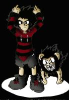 Dennis and Gnasher by theblackdudewhodraws