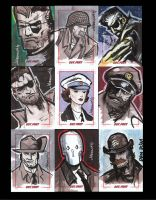 Sgt. Fury 50th Anniversary sketchcards pt 2 by CartoonCaveman