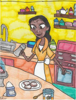 Tiana In Her Kitchen by Millie-the-Cat7