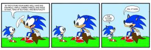 Sonic Past and Present by WaggonerCartoons