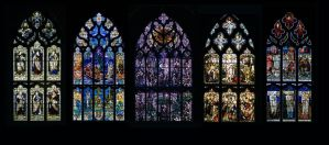 Church Windows by AshenSorrow