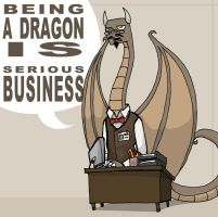 Dragon Desk Job by Lastdragondreamer