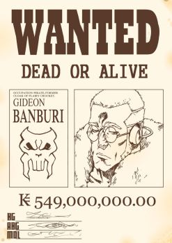 Apple Black: Gideon Banburi Wanted Poster by WhytManga