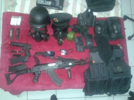 My airsoft equipament by Emersonpriest