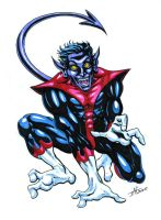 Nightcrawler Con Sketch 07 by Mortal-Mirror
