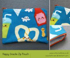 Happy Snacks Zip Pouch by Keito-San