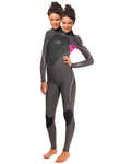two headed girl in a full wetsuit by neopreneaddict431