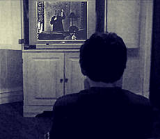 The TV screen shows how you die by samsilbert