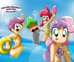 Cutie Mark Crusaders Beach by RYURED