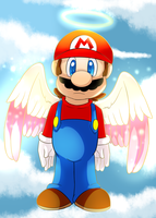 Angel Mario by PheonixBirdofFIre46