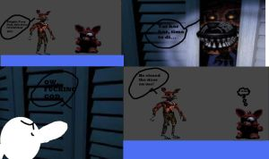Comic 69:A day in the life of Nightmare Foxy by PoyoRide