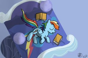 Dash does love her books by thejayowl