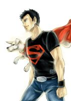 Superboy and Krypto by christasyd