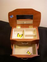 Butterfly Jewelry Box Interior by KimsButterflyGarden