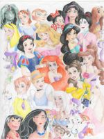 disney heroines by rinabina123