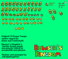 Hal the Koopa sprite sheet by HeiseiGoji91