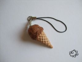 Big Ice Cream Charm 2 - Chocolate by FunkadelicPsychoFish