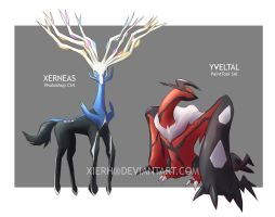 Gen VI mascots painting test by XieRH