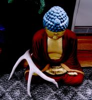 Still Life w Buddha and Antler by Kiminjo