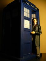 Eighth Doctor and Tardis by DoctorWhoNC