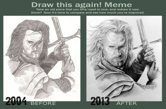 Draw this again - LOTR Aragorn by Grace-Zed