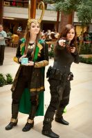 Loki and Black Widow Cosplay by Adventure--Awaits