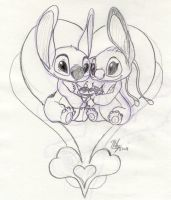 Request - Stitch and Angel by Stitchfan