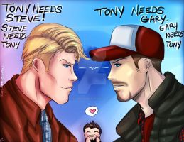 Steve vs Gary by royswordsman