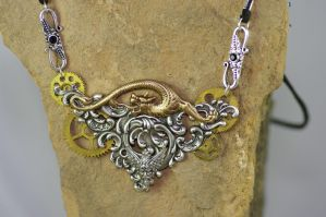 Steampunk, God of four winds travelers necklace by MonstersInThewall