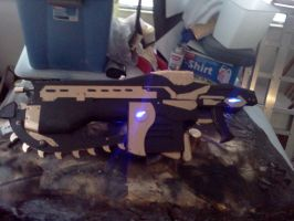 Gears of War 3 Mk2 Assault Lancer Gold by NAMEAKAG