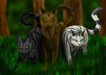 Tigerstar, Darkstripe, and Longtail by Crazydog12