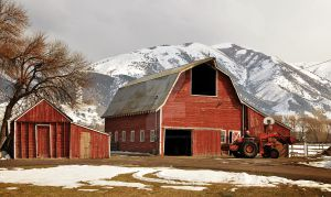 Red Barn in Cache Valley by houstonryan