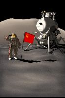 The first man on the Moon by Aran-Munich