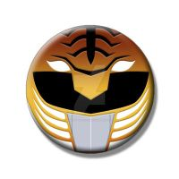 MMPR White Ranger Button by Mutant-Cactus