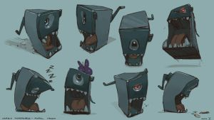 Crazy Sharpener model sheet by saltytowel